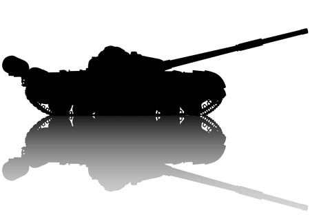 regiment: Vector drawing of an modern military tank
