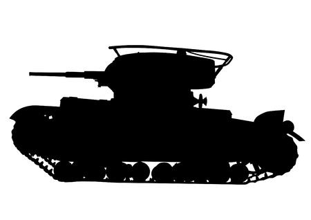 silhouette soldat: Dessin vectoriel d'un r�servoir militaire moderne