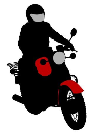 moped: Vector drawing a big black motorcycle