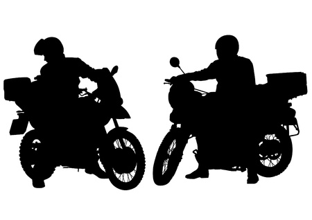 motorcyclist:  drawing a tourist motorcycle