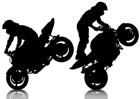 motorcycle racing: drawing a sports extreme motorcycle