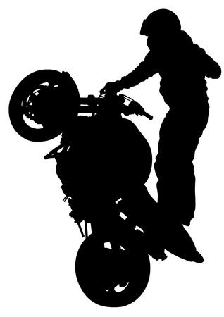 motociclista: dibujando una motocicleta deportiva extrema Vectores