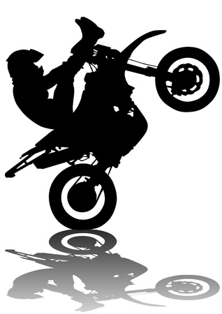 drawing a sports extreme motorcycle Vector
