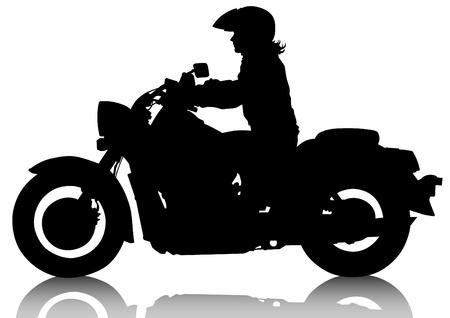 motor race: het tekenen van een oude toeristische motorfiets