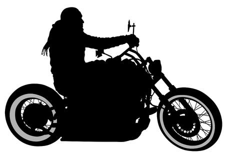 het tekenen van een toeristische motorfiets Stock Illustratie