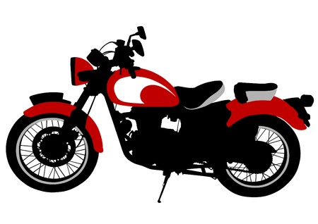 drawing a old tourist motorcycle Vectores