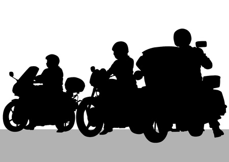 drawing a tourist motorcycle Illustration
