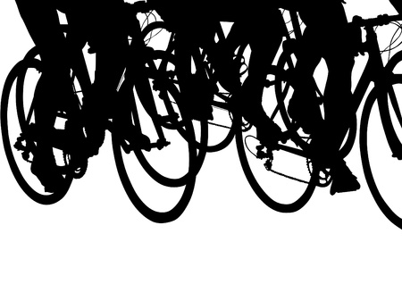 drawing silhouette of a cyclist boy