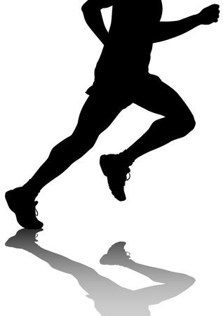 tekenwedstrijd op run Stock Illustratie