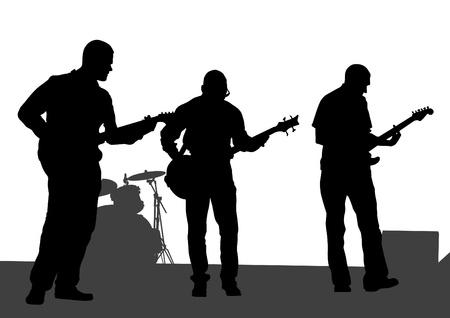 beeld van de muzikale rockgroep Stock Illustratie