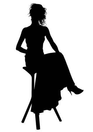 drawing beautiful girl in dress Vector