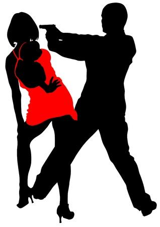 secret love: dibujo de un hombre en un traje con un arma de fuego