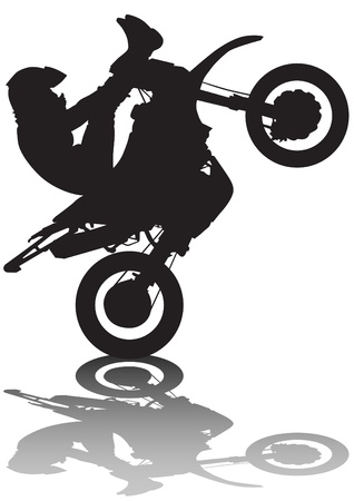 moped: drawing a sports extreme motorcycle