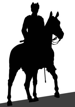 Vector drawing of a military man on horseback Stock Vector - 16612077