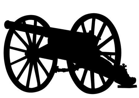 drover: Vector drawing of a retro old gun