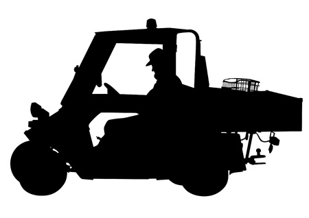 transport of goods: Vector drawing of the electric vehicle for transport of goods