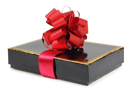 Color photo of a gift box and ribbon Stock Photo - 17142416