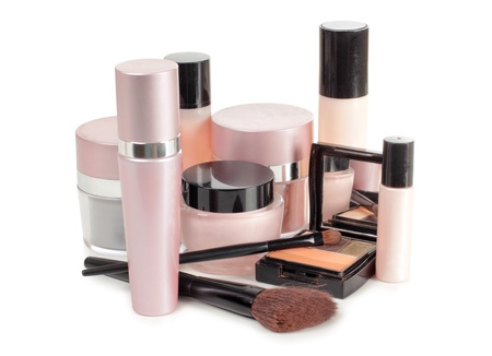 beauty care: Color picture glasses tubes and cream