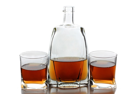 Color photo of glass with whiskey shots Stock Photo - 17665898