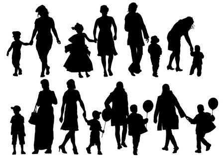 drawing parents and child Stock Vector - 17665943