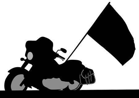 Vector drawing a tourist motorcycle Vector