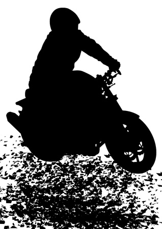 Vector drawing a sport tourist motorcycle Vector