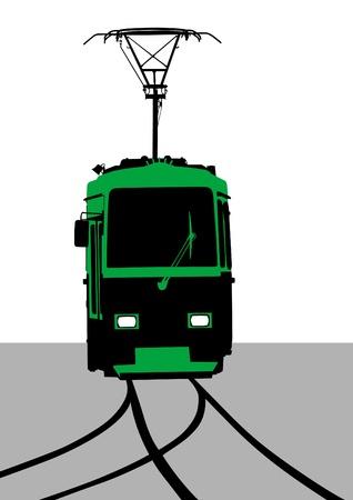 streetcar: ilustraci?n de v?as del tranv?a urbano