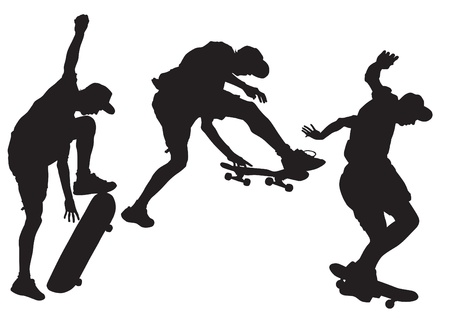 drawing athletes on a skateboard
