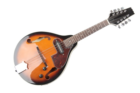 mandolin: Color photo of a mandolin in country style Stock Photo