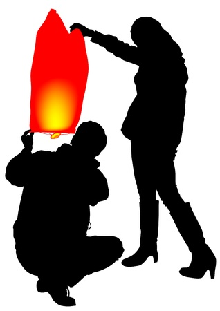 fireworks 'hope fireworks: image of young boy and girl with air lantern