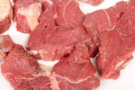 Color photo of fresh raw meat photo
