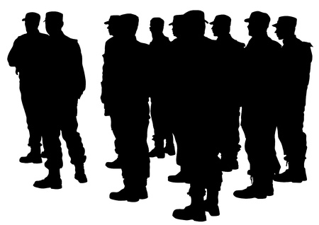 arrested: Vector drawing of special police force