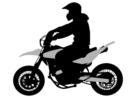 Vector image of young people on a retro bike Vector