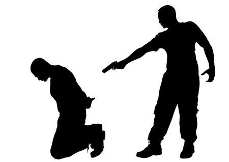 undercover: Disegno vettoriale di un arresto penale Vettoriali