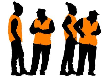 janitor: illustration janitor in signal vest