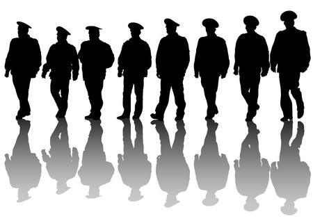 police arrest: drawing of special police force