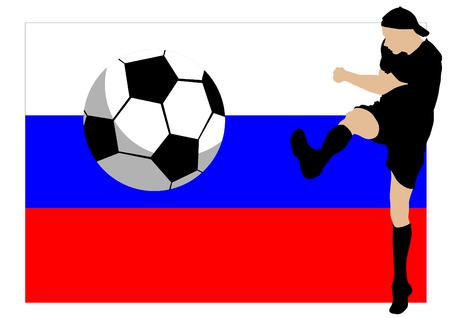 breast comic: Football player in the movement against russian flag