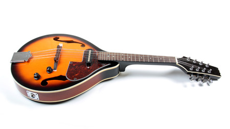 mandolin: Mandolin in country style on white bacckground