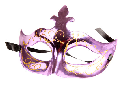 Theatrical mask on white background photo