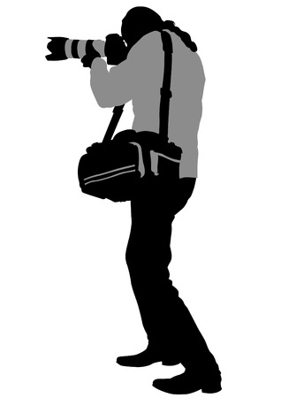 Journalist man with a camera