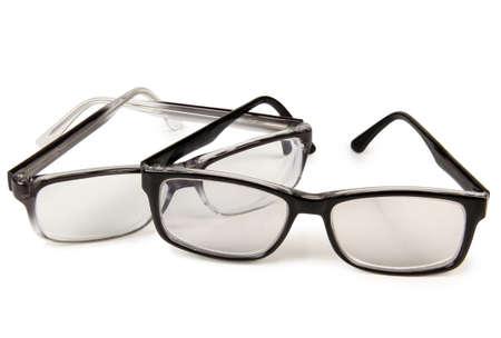 uomini di colore: Black men glasses on white background