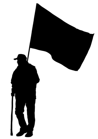 anarchist: People of anarchia with large flags