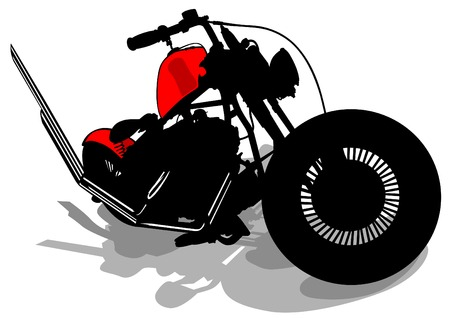 Old retro bike on white background Vector