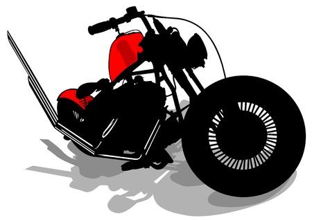 Old retro bike on white background Illustration