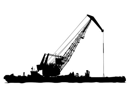 Silhouettes of see cranes on white background