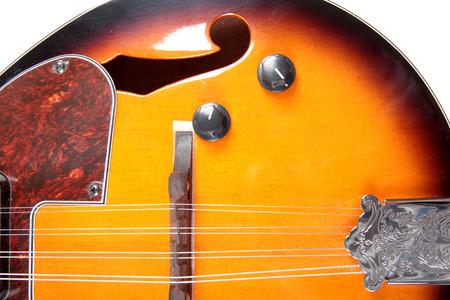 mandolin: Mandolin in country style on white background Stock Photo
