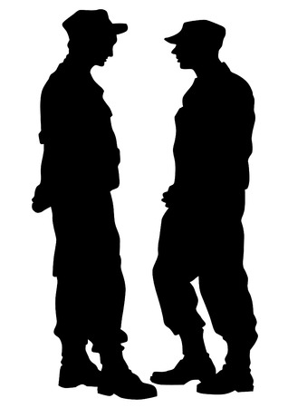 police force: People of special police force on white background