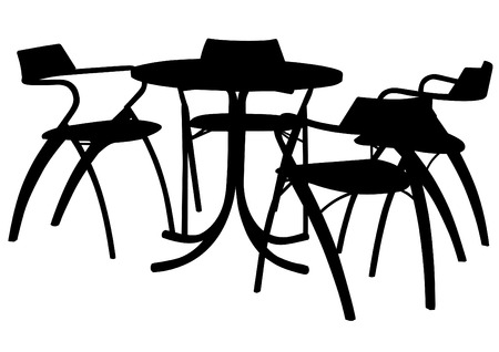 Illustration Of Tables And Chairs Royalty Free Cliparts Vectors