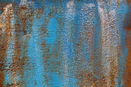 colored dye: Rusty metal wall colored dye Stock Photo