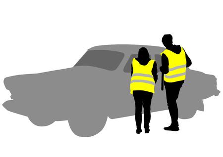 traffic officer: Traffic officer in uniform on white background